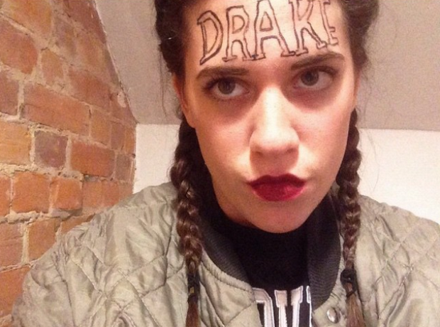 People dressed as Drake