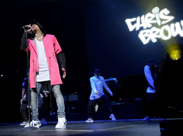 Chris Brown performing