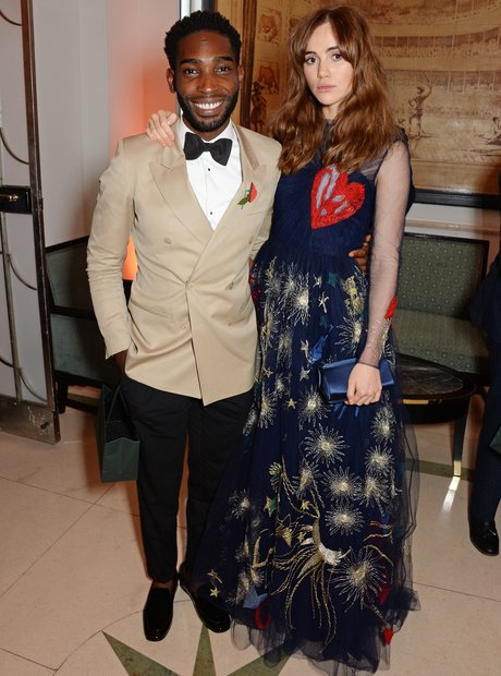 Tinie Tempah and Suki Waterhouse at the Harper's B
