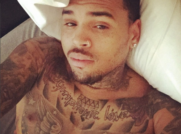 Chris Brown morning selfie