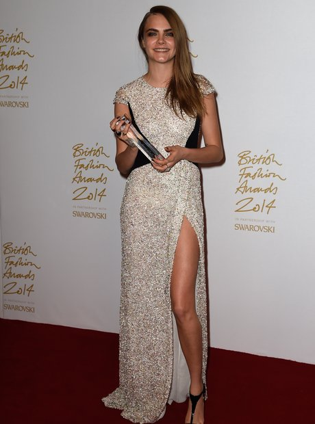 Cara Delevingne British Fashion Awards 2014