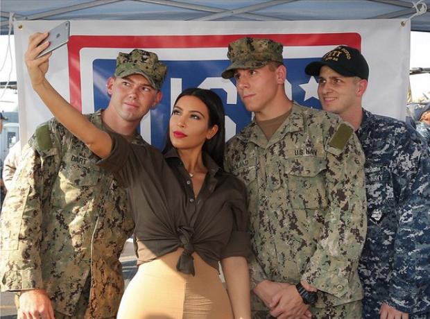 Kim Kardashian meets the troops