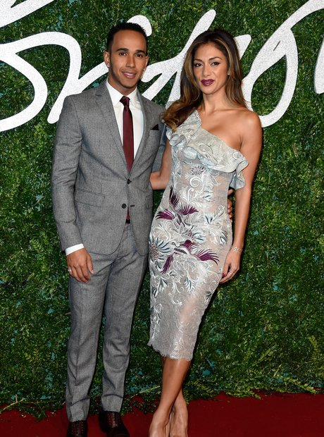 Nicole Scherzinger and Lewis Hamilton British Fash