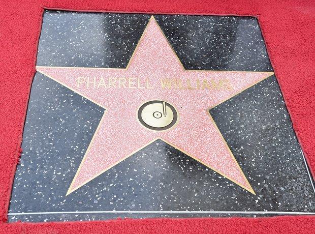 Pharrell Williams star on hollywood walk of fame