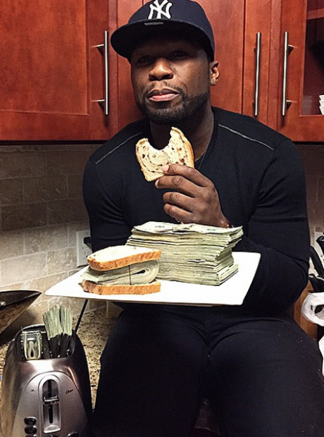 50 Cent with money