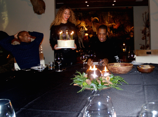 Awesome Of Course Jay Z Was Given A Huge Birthday Cake To Celebrate Personalised Birthday Cards Cominlily Jamesorg