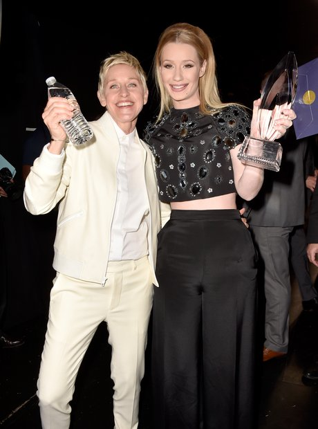 Iggy Azalea and Ellen Generes