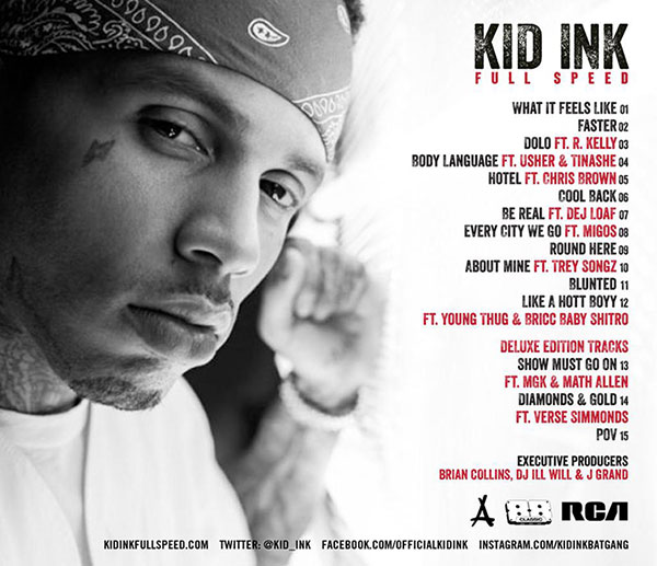 Kid Ink Full Speed tracklisting