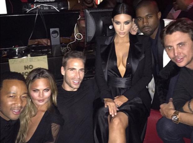 Kim Kardashian, Kanye West, John Legend and Chriss