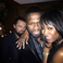Image 1: 50 Cent with Naomi Campbell. Oh and that's Leonardo DiCaprio casually photobombing.
