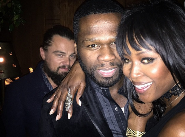 50 Cent Naomin Campbell Leo Dicaprio Photobomb