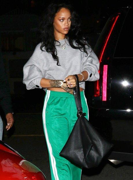 Rihanna Green Tracksuit Heals