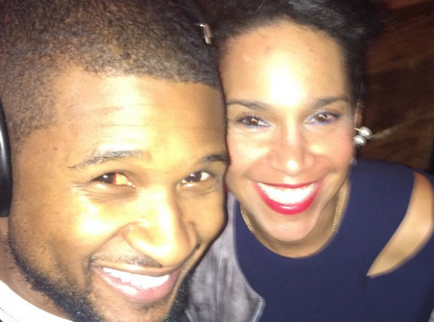 Usher and girlfriend Grace Miguel