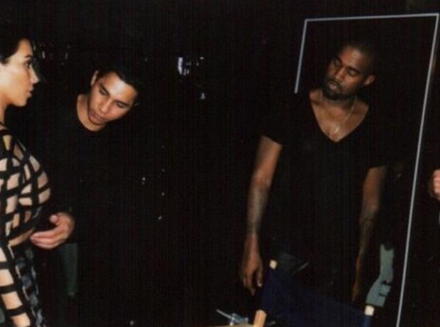 Kanye West Kim Kardashian Balmain