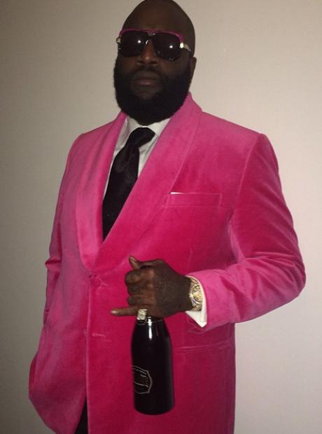 Rick Ross pink blazer