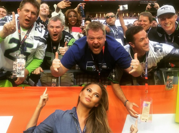 chrissy teigen Super Bowl 2015