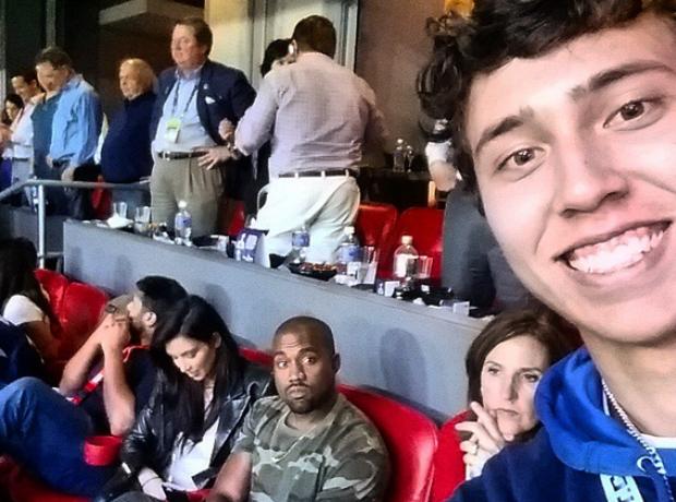 Kanye West sad selfie