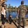 Image 9: Kim, Kanye and North Zoo