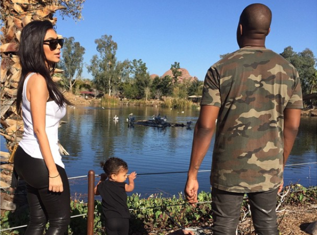 Kim, Kanye and North Zoo