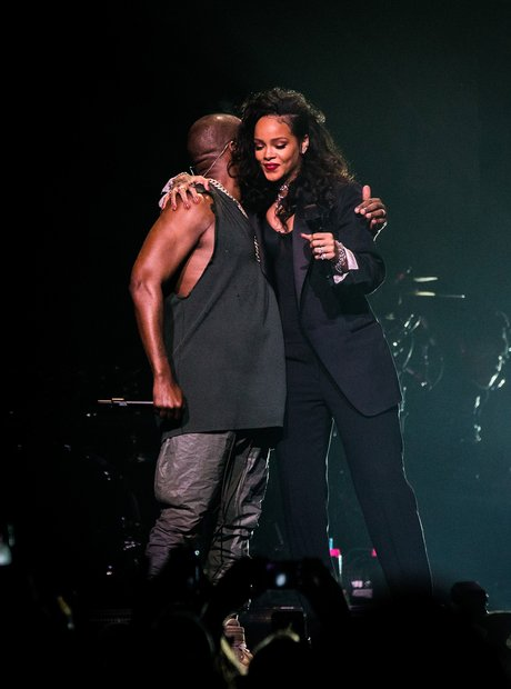 Rihanna and Kanye West Super Bowl 2015