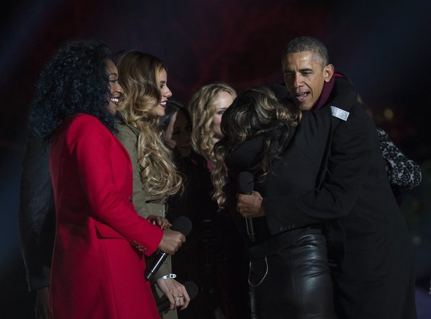 Fifth Harmony with Barack Obama