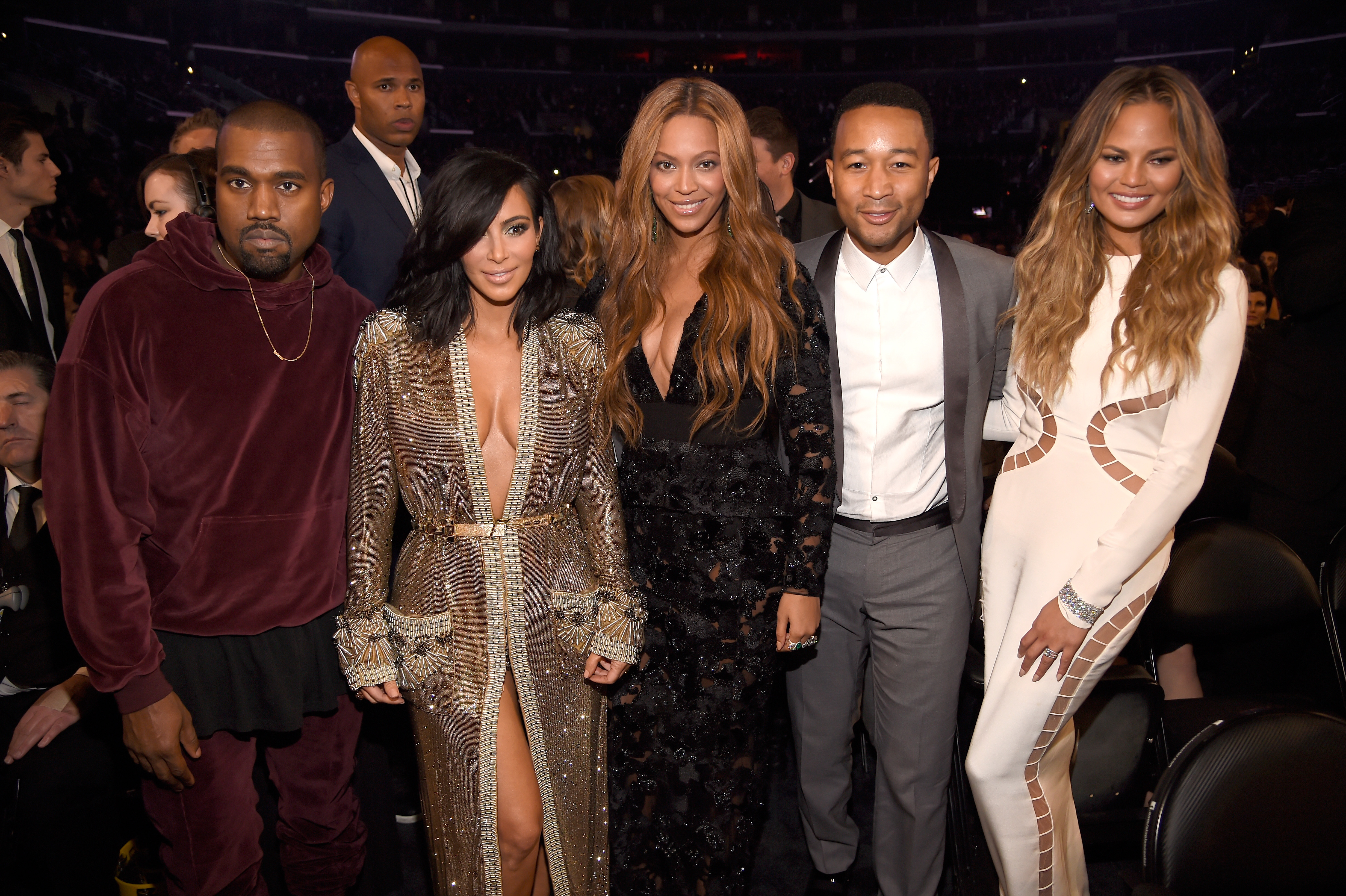 Kanye West, Kim Kardashian West, Beyonce, John Leg