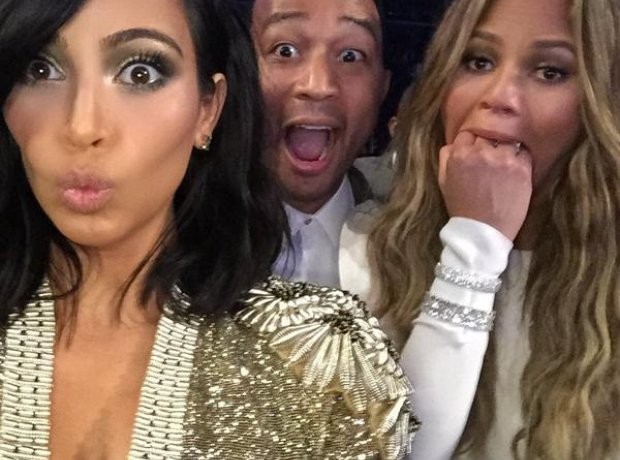 Kim Kardashian John Legend chrissy Tiegen