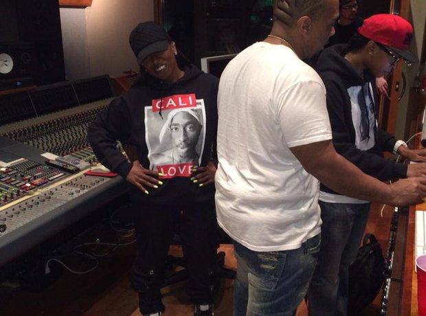 Missy Elliott and Timbaland In Studio