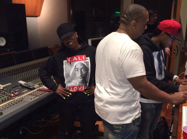 Missy Elliott and Timbaland In Studio