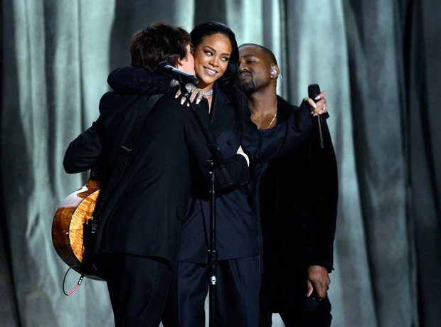 Rihanna, Kanye West and Sir Paul McCartney