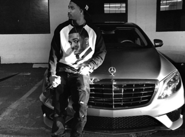 Trey Songz and his Merc.