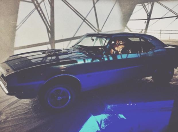 Wiz Khalifa and a camaro
