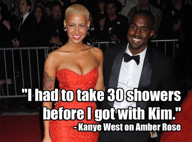 Amber Rose Kanye West Twitter beef