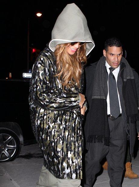 Beyonce wearing a onesie