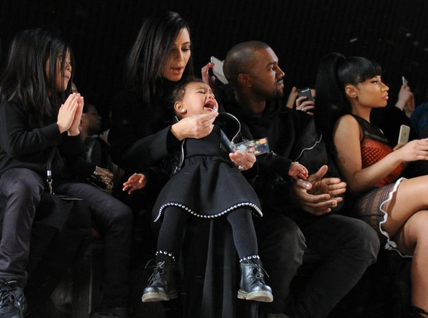 Kim Kardashian, North West, Kanye West and Nicki M