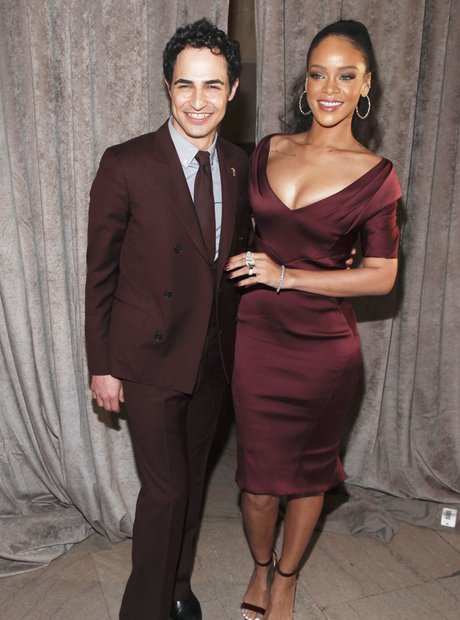 Rihanna and Zac Posen NY Fashion Week 2015
