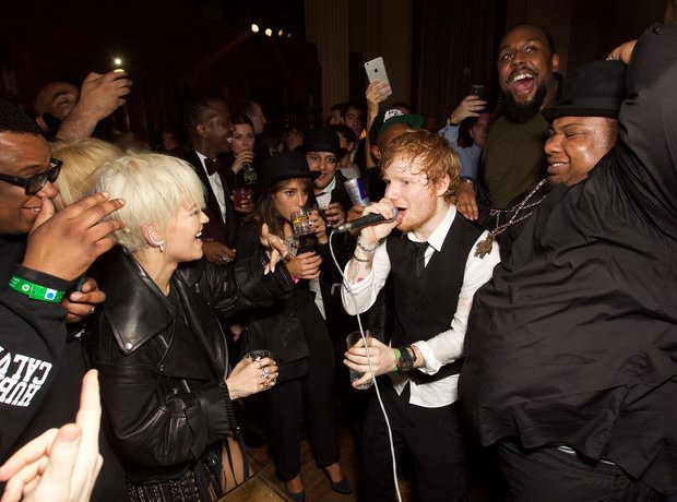 Ed Sheeran performs at the BRIT Awards Aftershow P