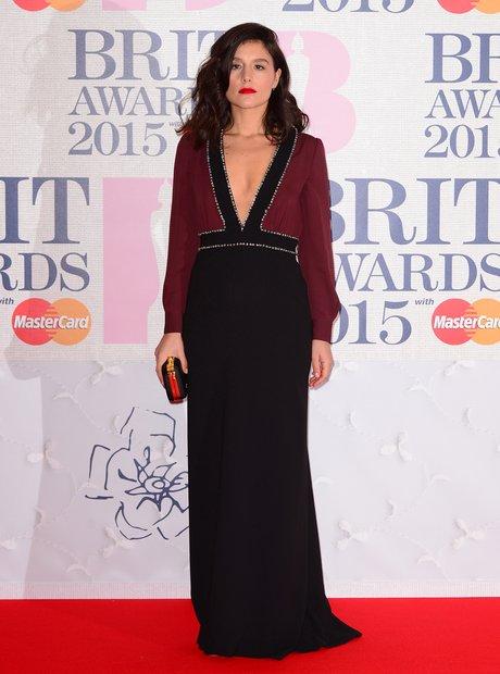 Jessie Ware BRIT Awards Red Carpet 2015