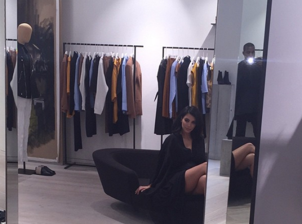 Kanye West and Kim Kardashian Shopping
