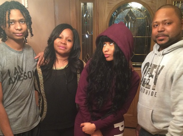 Nicki Minaj and family