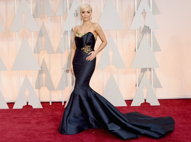 Rita Ora arrives at the Oscars 2015
