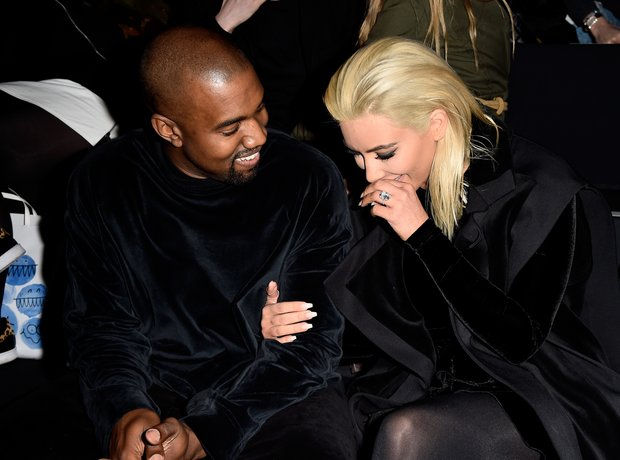 Kim Kardashian Blonde Hair and Kanye West
