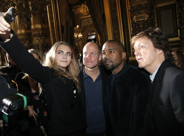 Cara Delevingne Kanye West Paul McCartney