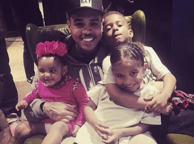 Chris Brown nieces nephews
