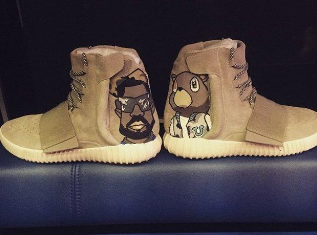 Chris Brown Yeezy Boost
