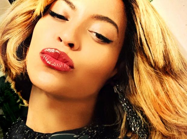 Beyonce pouting