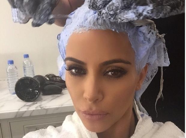 Kim Kardashian Hair Dyse