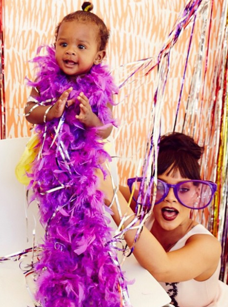 Rihanna and niece