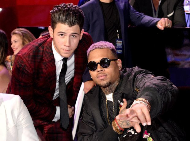 Nick Jonas and Chris Brown