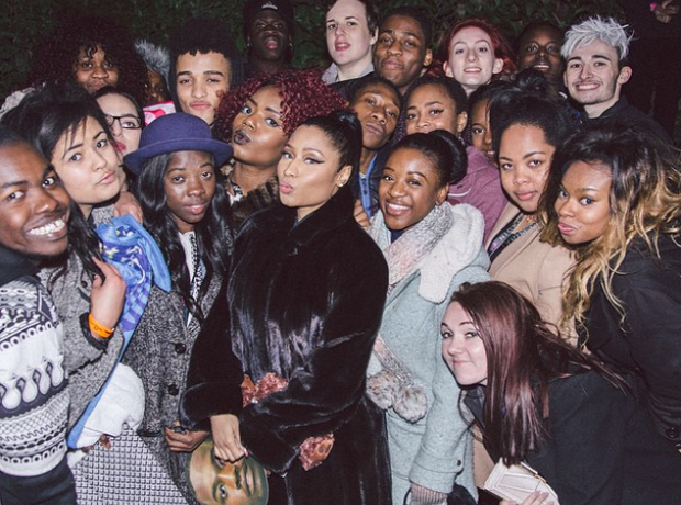 Nicki Minaj with fans